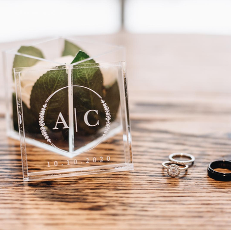 Custom Printed Acrylic Ring Box