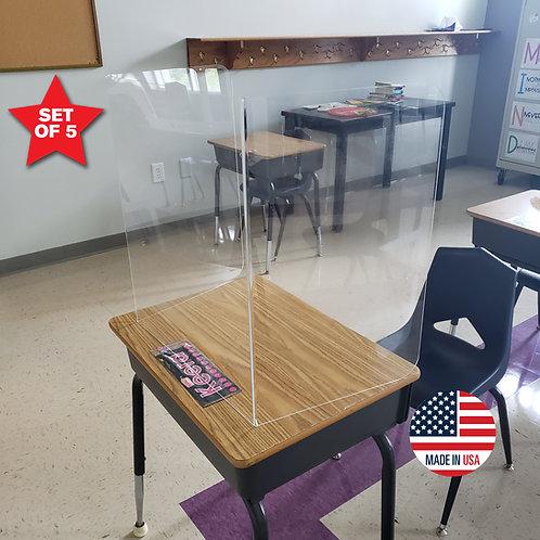 Acrylic Student Desk Shields - Set of 5