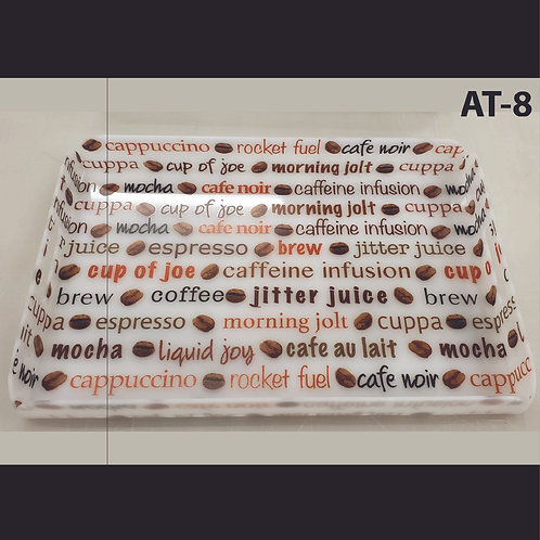 AT-8 Coffee Printed Acrylic Tray