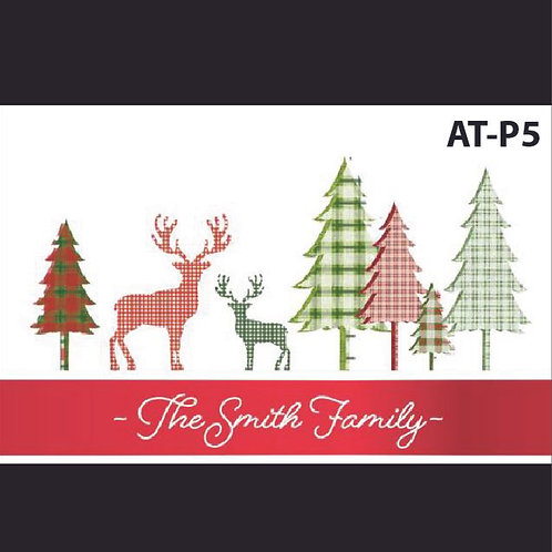 AT-P5 Personalized Reindeer Printed Acrylic Tray