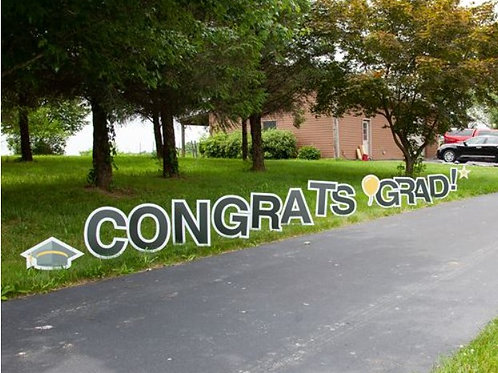Yard Sign Set - Graduation
