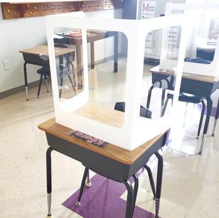 PVC Student Desk Shields