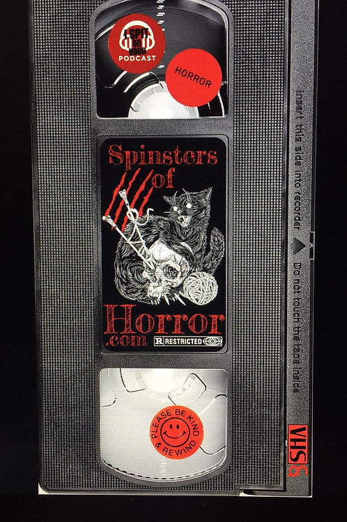 Spinster of Horror VHS Sticker
