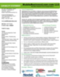 MobileBusinessLoan.com Capability Statem