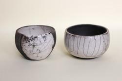 Small raku bowls