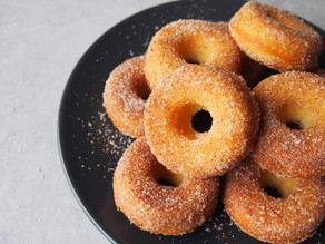 Baked Mini Doughnuts with Brown Butter & Cinnamon Sugar