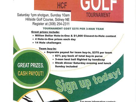 Health Center Foundation Tournament July 15 & 16, 2017