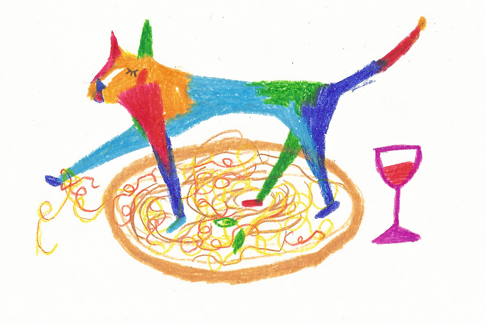 Illustrazione di Giulia Sollai ispirata al gatto di Agata
