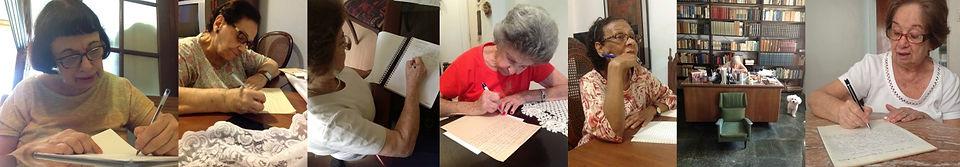 senhoras participantes do Projeto, escrevendo suas cartas