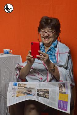 """""""Tricotando"""" no celular"""