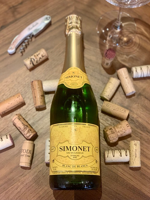 NV Simonet Blanc de Blanc, Chardonnay, Alsace, FRA