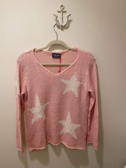 Wooden Ships Pink Star Sweater