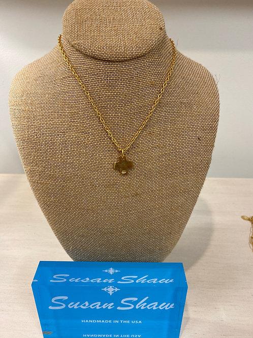Susan Shaw Mini Cross Necklace