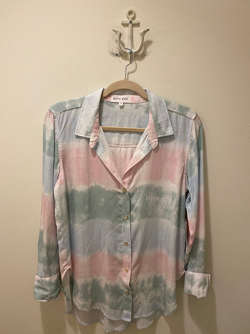 Bella Dahl Tie Dye Button Up Blouse