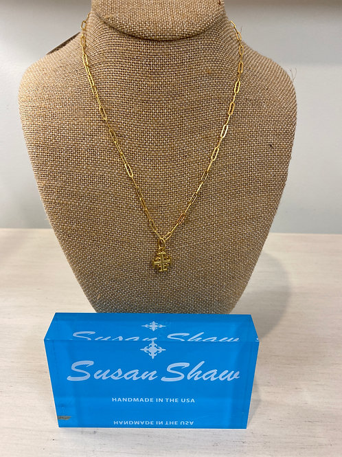 Susan Shaw Chained Cross Necklace