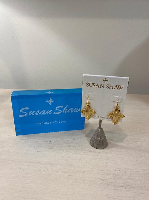 Susan Shaw Cross Earrings