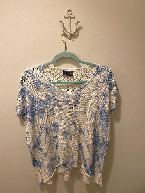 Wooden Ships Blue Tie Dye Sweater