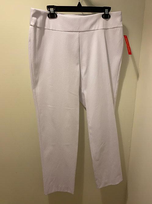Krazy Larry Textured White Long Pants