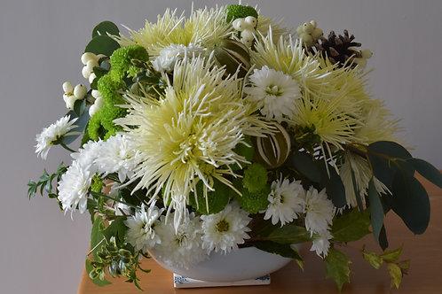 Round flower table design