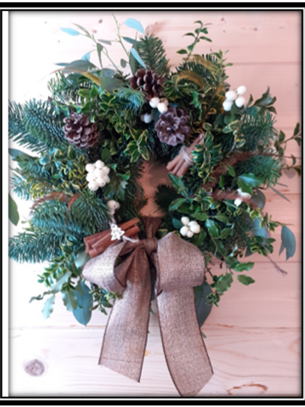 Small fresh handmade wreath