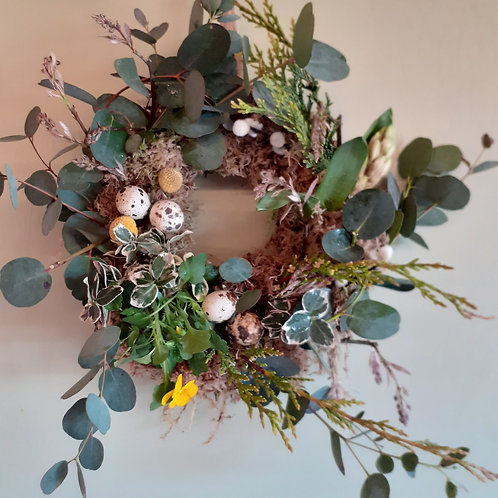 Spring Living Mossed Wreath