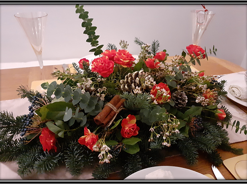 Rectangular table design with candle