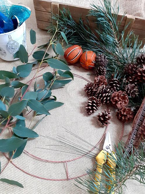 Luxury Christmas Wreath Workshop Sun 5th December 2021 5pm