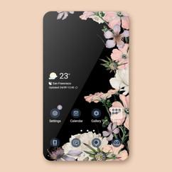 Black Pink Flowers