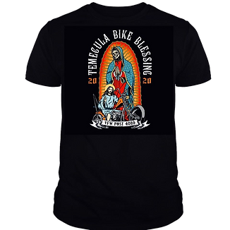 2019 Temecula Bike Blessing fundraiser T-Shirt design