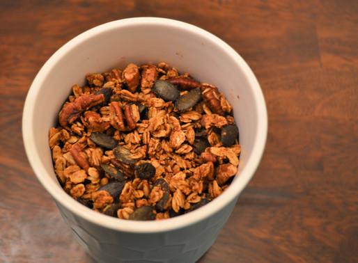 Pumpkin Pecan Granola: a recipe