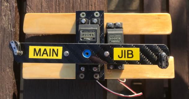 Servo Support Rails with Sail Arm