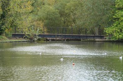 Boating Lake Weir Bridge - 24 Oct 20