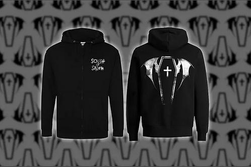 'Bat Coffin' Unisex Zipped Hoodie