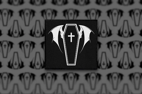 'Bat Coffin' Sew-On Patch