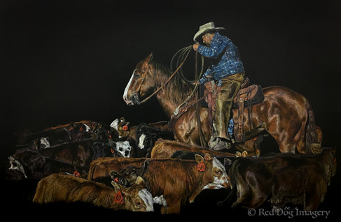Edging for Heels western art by Red Dog