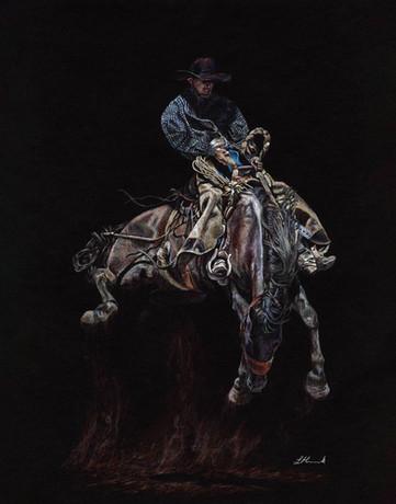 Stomp the Yard ranch bronc western art b
