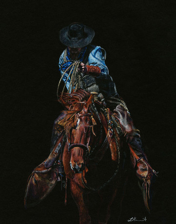 Into the Fire western art of a hackamore