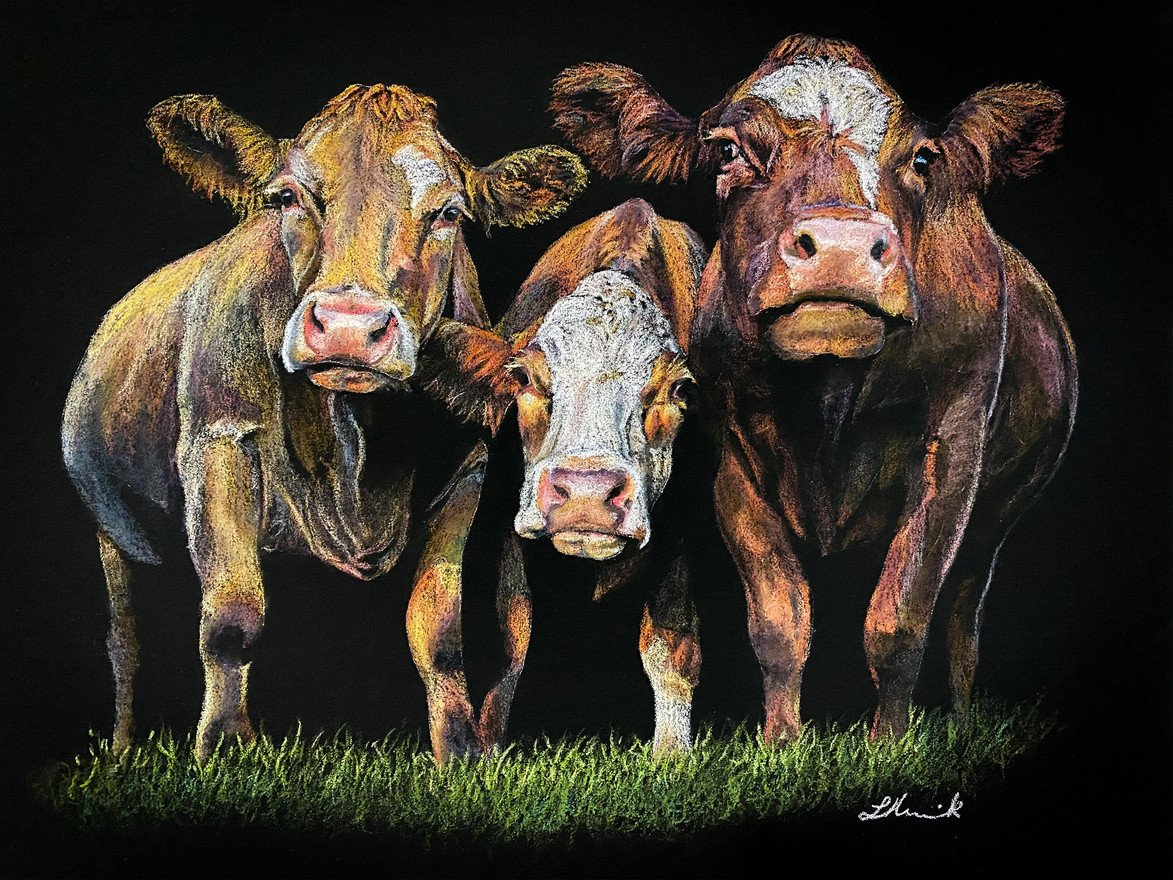 Ladies in Red commercial cow art by Red