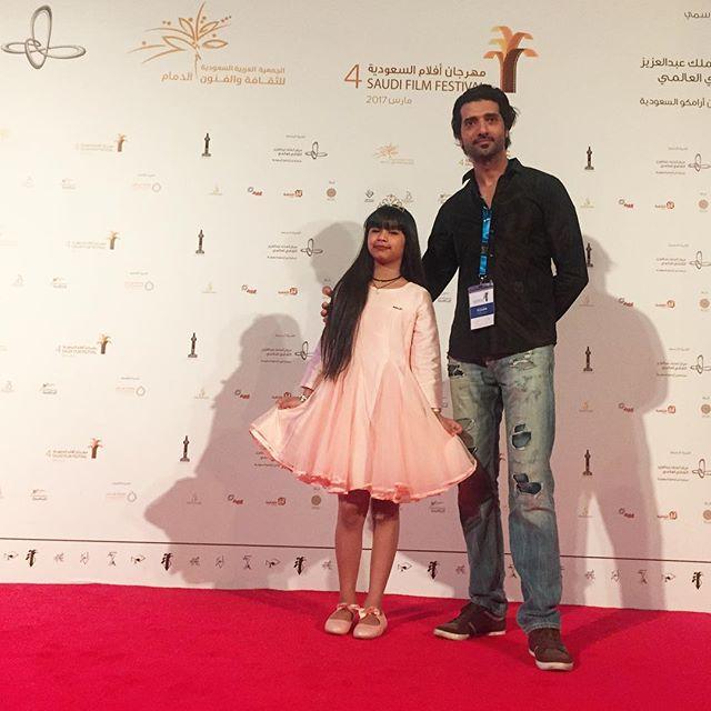 _ red carpet with the beautiful talent Fatim Altemimi  #saudifilmfestival screening my short film #t