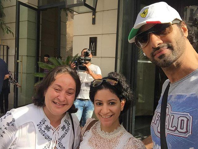 صباح المغادرة #مهرجان_وهران_للفيلم_العربي مع الممثلة الاماراتية فاطمة الطائي والمخرجة والفنانة التشك
