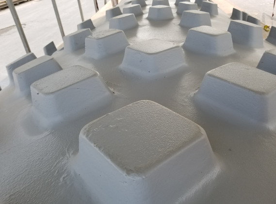 mold with gel coat to help release UHPC