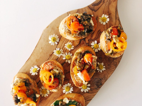 The Only Appetizer You'll Ever Want to Bring to a Party Ever Again... aka Olive Bruschetta