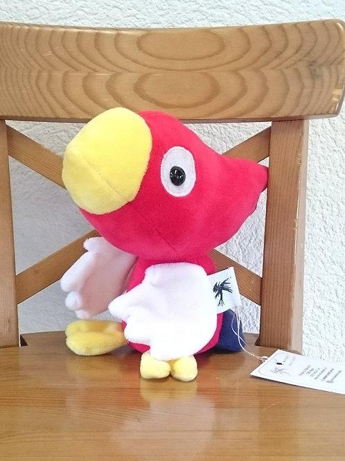 Perroquet bébé - rouge - ailes blanches
