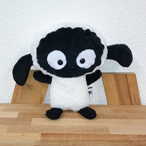 Mouton maman - blanc et noir