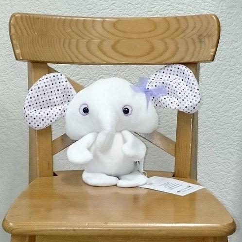 Eléphant bébé - blanc
