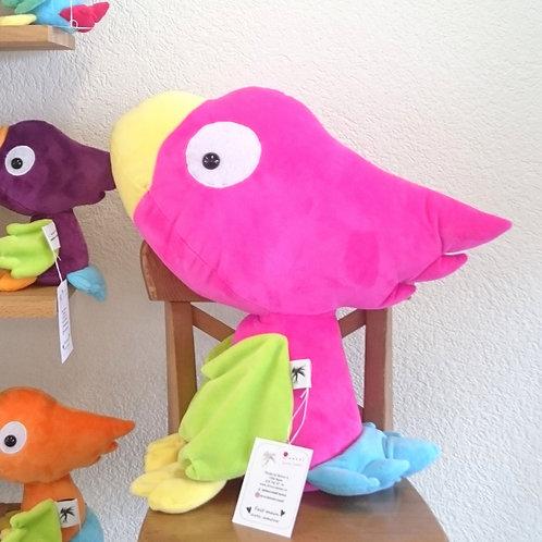 Perroquet grand-maman - fuschia - ailes anis