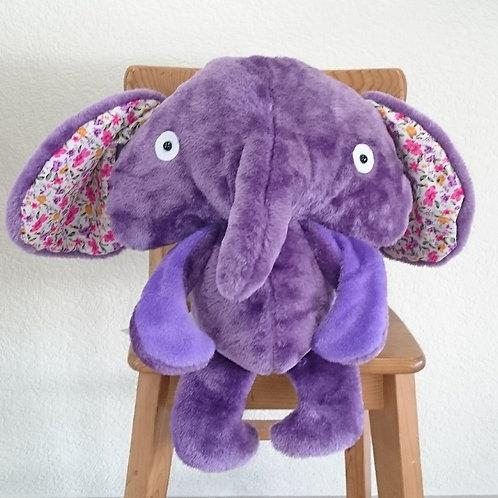 Eléphant maman - violet