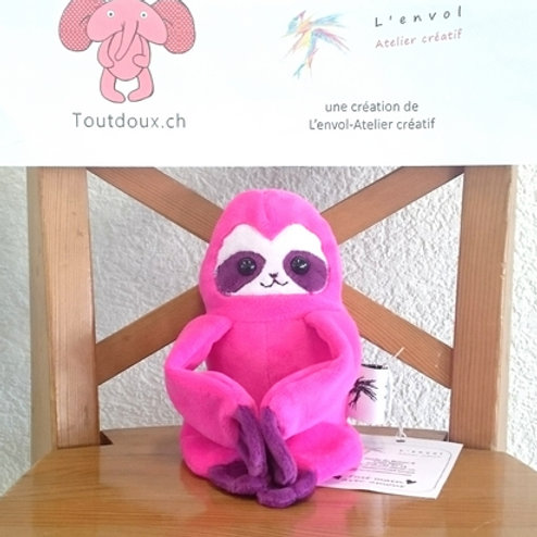 Paresseux bébé - rose