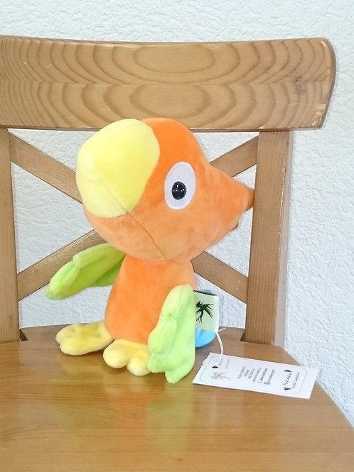 Perroquet bébé - orange - ailes anis