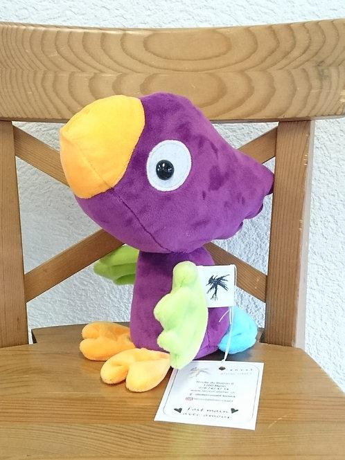 Perroquet bébé - cassis - ailes anis
